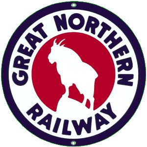 GREAT NORTHERN RAILWAY PORCELAIN COAT SIGN G