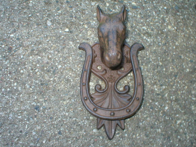 HORSE DOOR KNOCKER CAST IRON