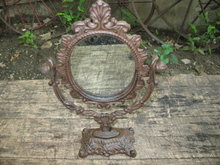 CAST IRON VICTORIAN STYLE MIRROR IRONWARE DECOR V