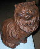 CAST IRON LARGE PERSIAN CAT IRONWARE DECOR P