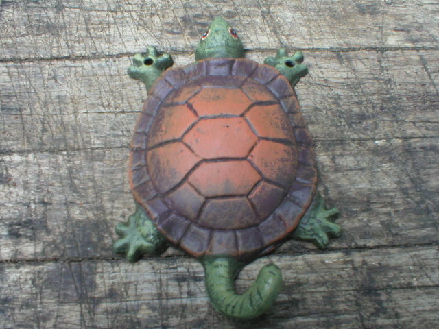 CAST IRON TURTLE HOOK IRONWARE DECOR T