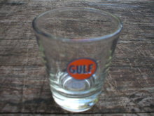 GULF GASOLINE SHOTGLASS GAS STATION NOSTALGIA