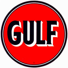 GULF GASOLINE VINYL DECAL GAS PUMP ADV AD DECOR G