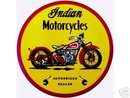 Indian Motorcycle Round Vinyl Decal