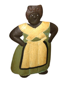 LARGE TIN FREE STANDING AUNT JEMIMA HOME OFFICE DECOR A