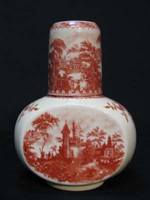 PORCELAIN TRANSFERWARE RED NIGHT WATER SET R