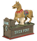 CAST IRON TRICK PONY MECHANICAL BANK