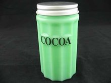 SMALL JADE JADEITE COCOA CANNISTER C