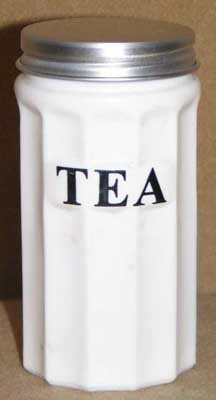 SMALL MILK GLASS TEA CANNISTER M