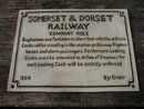 SOMERSET & DORSET RAILWAY SIGN CAST IRON