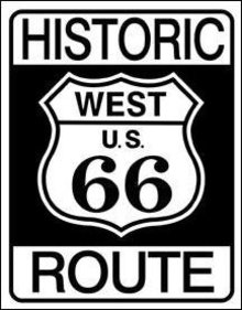 HISTORIC ROUTE 66 TIN SIGN RETRO METAL ADV SIGNS H