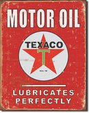 TEXACO LUBRICATES PERFECTLY METAL SIGN
