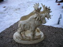 MOOSE CANDLE HOLDER CAST IRON DOUBLE SIDED