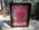 FIREFIGHTER PARKING ONLY NEON SIGN HOME GARAGE SHOP DECOR F