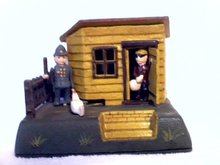 UNCLE REMUS MECHANICAL BANK IRONWARE DECOR R