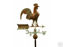 ROOSTER COPPER WEATHERVANE BRASS DIRECTIONALS