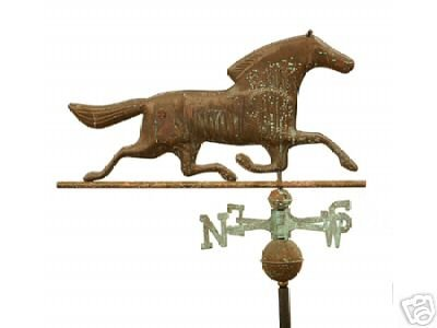 HORSE COPPER WEATHERVANE BRASS DIRECTIONALS