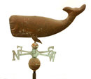 WHALE COPPER WEATHERVANE BRASS DIRECTIONALS