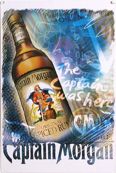 CAPTAIN MORGAN CAPTAIN TIN SIGN