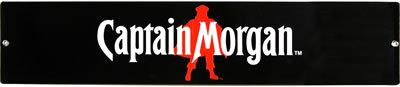 CAPTAIN MORGAN BLACK METAL SIGN