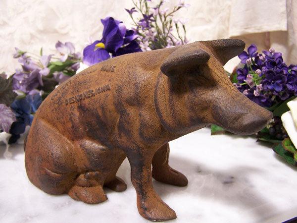 CAST IRON CARTER'S PIG BANK IRONWARE DECOR C