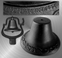 LARGE CAST IRON #2 BELL w/MOUNTING BRACKET B