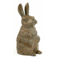 CAST IRON RUSTIC RABBIT DOOR STOP R