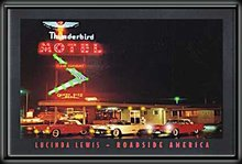 THUNDERBIRD MOTEL LED PICTURE 24 X 36 PIC SIGN T