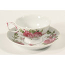 DAINTY TEACUP SAUCER OLD PINK FLOWER PATTERN