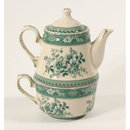 GREEN TEA FOR ONE SET UNIQUE VICTORIAN DECOR