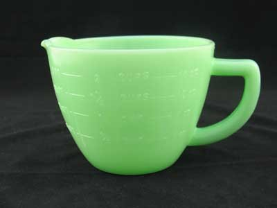 JADE JADITE JADEITE TWO CUP MEASURING CUP