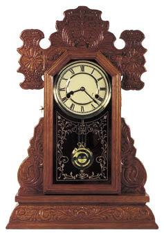 OAK GINGERBREAD CLOCK  MANTLE SHELF CLOCKS O