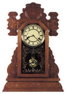 OAK GINGERBREAD CLOCK  MANTLE SHELF CLOCKS O