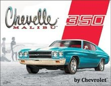 CHEVELLE MALIBU 350 TIN METAL SIGN