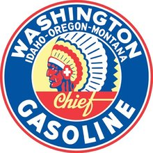 WASHINGTON GASOLINE RETRO STEEL SIGN 42 INCH