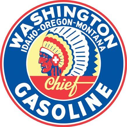 WASHINGTON GASOLINE RETRO STEEL SIGN 42 INCH