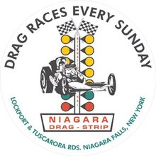 NIAGARA DRAG STRIP METAL SIGN