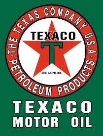 TEXACO MOTOR OIL METAL SIGN