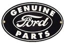 OVAL GENUINE FORD PARTS SIGN RETRO ADV SIGNS