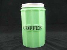 JADE JADITE JADEITE COFFEE CANISTER J