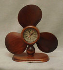 WOODEN PROPELLER CLOCK HOME OFFICE DEN DECOR