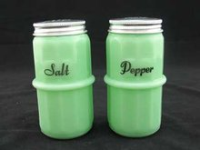 JADE JADITE JADEITE HOOSIER SALT PEPPER SHAKERS