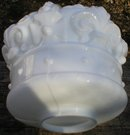 WHITE CROWN GASOLINE MILK GLASS GAS PUMP GLOBE