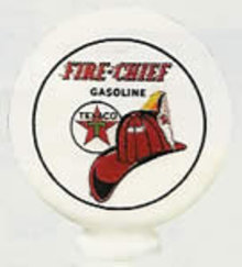 TEXACO FIRECHIEF ONE PIECE MILK GLASS MINI GLOBE T