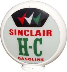 SINCLAIR H-C GAS PUMP GLOBE 13.5