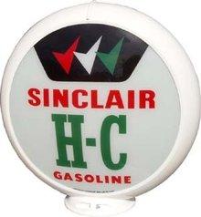 SINCLAIR H-C GAS PUMP GLOBE 13.5