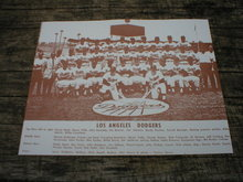 LOS ANGELES DODGERS PRINT PICTURE AD SIGNS POSTER