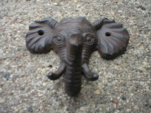 ELEPHANT SINGLE HOOK  CAST IRON
