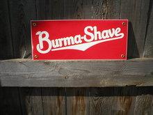 BURMA SHAVE PORCELAIN-COATED SIGN