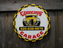 GOODGUYS GARAGE PORCELAIN COATED SIGN